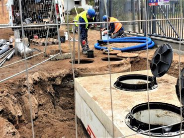 Budowa kanalizacji przy ul. Butrymów